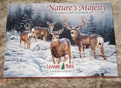 LEANIN TREE Nature's Majesty Christmas Cards 2 each of 10 designs w/ envelopes