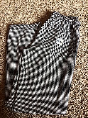 Mercer Culinary Chef Pants Women's Size Small Houndstooth Pattern