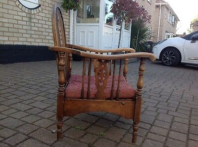 Antique Oak Mission Monastery Recliner Arm Chair Stamped 2157