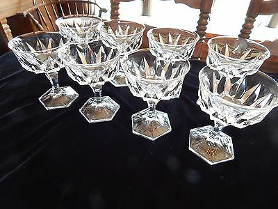 Cristal D'Arques-Durand Chaumont Champagne/Tall Sherbet Glasses (Set of 8)