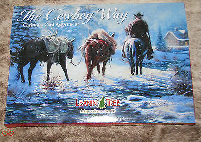 LEANIN TREE The Cowboy Way Christmas Cards ~2 each of 10 designs w/ envelopes~