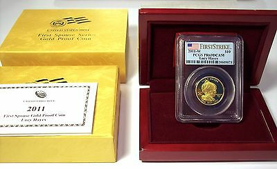 2011-W Lucy Hayes $10 Gold First Spouse Proof, PCGS PR69DCAM FS, Mint Box & COA