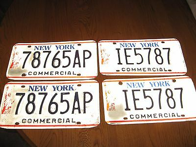 2 pr NYS Commercial License Plates