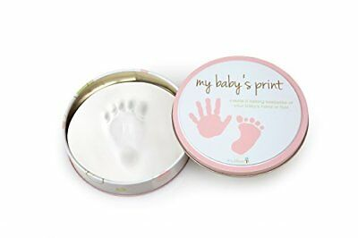 Tiny Ideas Easy to Use Handprint Tin Pink Baby Hand Footprint Makers, New