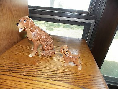 Golden Retriever Figurines Mom and Baby Vintage