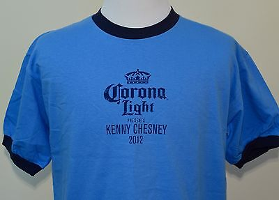 Kenny Chesney Corona Light t-shirt blue large 2012 tour country music beer