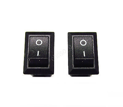 From OZ Quality 2PC 250v 3A 2Pin Mini Switch On Off Rocker Switch Blk Rectangula