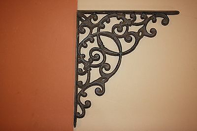 (4) Huge Victorian Corbels, Large Shelf Brackets, Cast Iron Vintage-look B-2