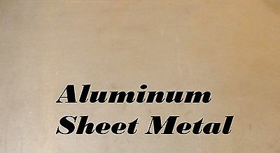 "1 Piece 8"" x 12"" Aluminum Sheet Metal .125""(1/8"") Thick/8 Gauge"