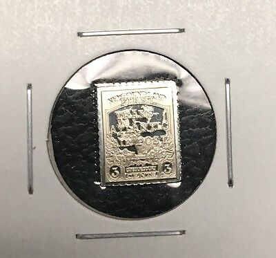 NFLD Newfoundland 1919 3 Cent Sterling Silver Mini Stamp Coin C1 Mint Condition