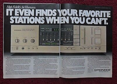 1981 Print Ad Pioneer SX-7 Stereo Receiver ~ Finds Your Stations When You Can't