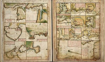 PORTUGUESE ATLAS maps 1630 OLD ROUTES  plans DVD sea ports CHARTS distance