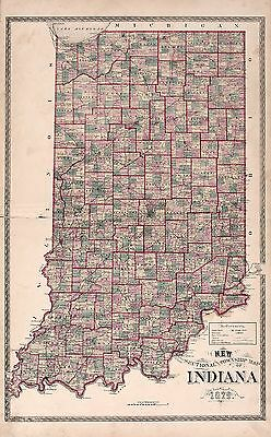 1880 STEUBEN COUNTY plat map INDIANA old GENEALOGY history Atlas Land P73