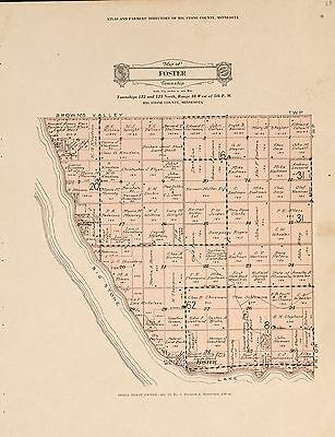 1931 BIG STONE COUNTY plat maps MINNESOTA GENEALOGY history Atlas Land P157