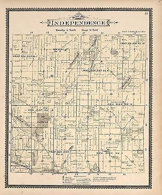 1896 OAKLAND COUNTY plat map MICHIGAN old GENEALOGY history Atlas Land P100