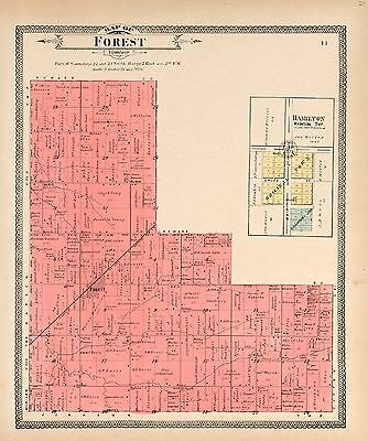 CLINTON COUNTY INDIANA 1903 Atlas plat maps old GENEALOGY history DVD P112