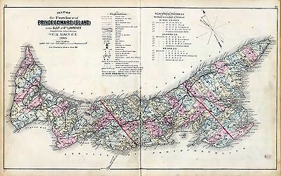 PRINCE EDWARD ISLAND 1880 Atlas maps CANADA GENEALOGY history LAND OWNER DVD
