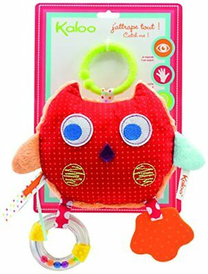 Kaloo Colors Activity Toys My Comforting Owl Baby Touch Feel Toys, New