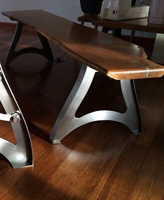 Vintage Industrial Steampunk Metal Finished Bench Legs