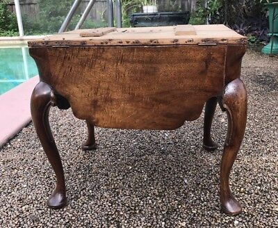 18Th Century Queenanne Period Lift Up Footstool With Pad Feet