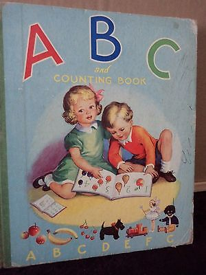 Vintage 1950's Childrens Book- ABC AND COUNTING BOOK
