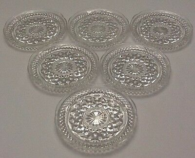 """Anchor Hocking Wexford Saucers 6"""" set of 6"""