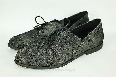 VOLCOM Moody Black Gray Lace Up Oxford Shoes (Size: 9.5) Women's Casual NEW