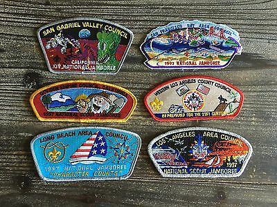 Boy Scouts of America 1997 National Jamboree California council patches set of 6
