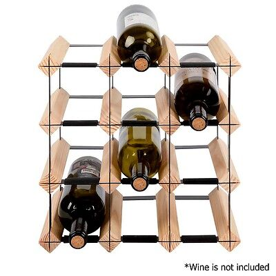 12 Bottle Timber Wine Rack Storage Unit Cellar Bar Decor Home Fathers Day NEW