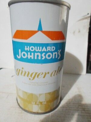 Howard Johnson`s Ginger Ale Straight Sided Steel Soda Can / Pop Can