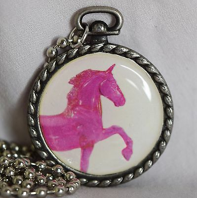 Breyer Model Horse Pink Stablemate Tennessee Walking ~ Necklace Pendant Jewelry