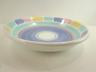 "Caleca Italian Pottery ""color Blocks"" Soup  Bowl New Unused"