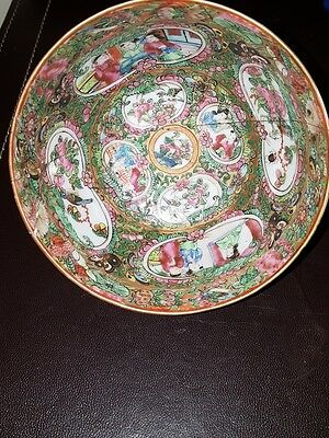 Beautiful Chinese Antique 18/19thC  Famille Rose  Oriental Porcelain Bowl
