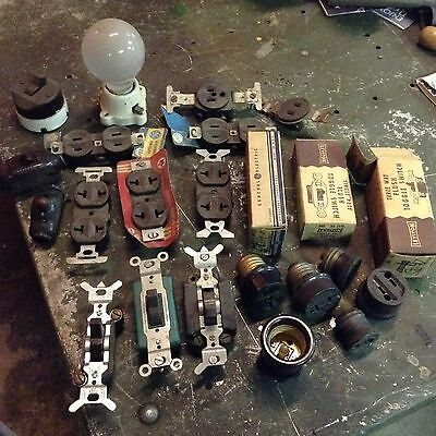 Vintage Electric Outlet Switch Lot