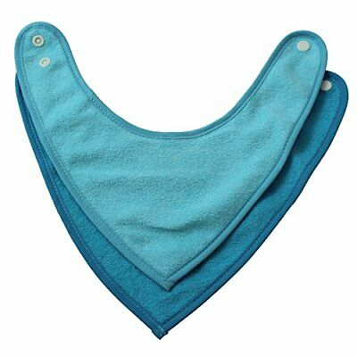 Bandana Bib Blue 2 Count Baby Girls Infant Toddler Apparel Accessories, New