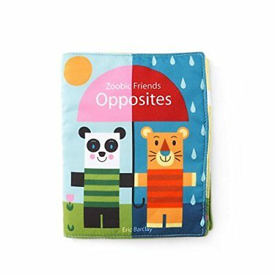 DEMDACO Soft Opposites Baby Book Baby Touch Feel Toys, New