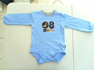 Carters baby boys blue one-piece Size 2 dinosaur basketball long sleeves no legs