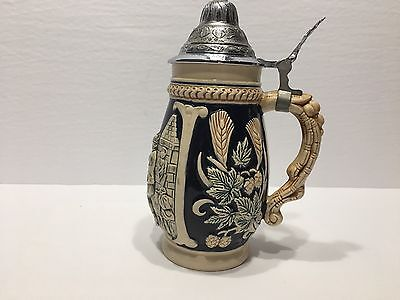 Stein Beer Made In Western Germany & W/ Chrome Cap Very Good Condition