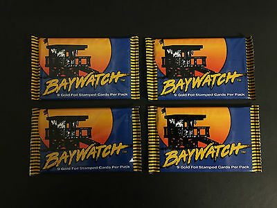 1995 Sports Time Baywatch Trading Cards Sealed Pack Lot (4) Pam Anderson!