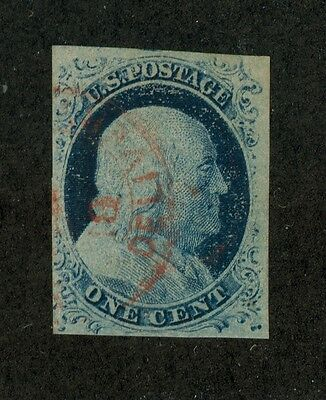 U.S. - 7 - Very Fine - With a red cancel - Used