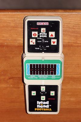 Retro 80's COLECO Head to Head Football Handheld Game -Works Fine