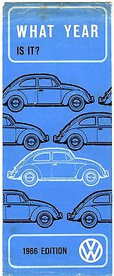 """Volkswagen Folio Called """"what Year Is It"""" 1966 Edition"""