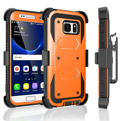 New Luxury Shockproof Protective Hard Case With Clip Cover For Samsung Galaxy S7