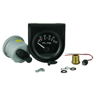 "Trisco Oil Pressure Gauge 2"" 52Mm Sender & 1/4"" Npt Adaptor Electrical"