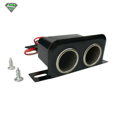 Quality 12 Volt Accessory Dual Socket Adapter With Underdash Bracket