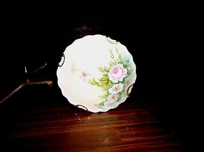 Hand Painted Porcelain Box  Powder Box Dresser Jar