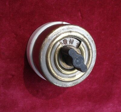 Vintage 1920S Rotary Electric Light Or Power Switch Hart And Hegeman Company Usa