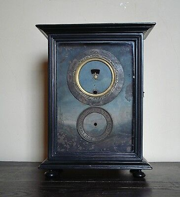 Rare 17Th C Italian Ebonised Night Calendar Zodiacal Clock Case And Dial