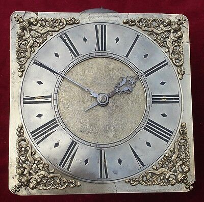 Earlier 18Th C 10 In Brass Dial 30 Hour Longcase Clock Movement Unsigned