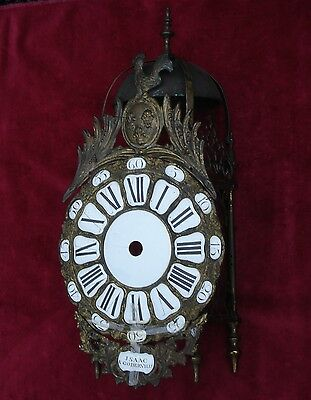 18Th C French Lantern Clock Case Signed Isaac A Goderville